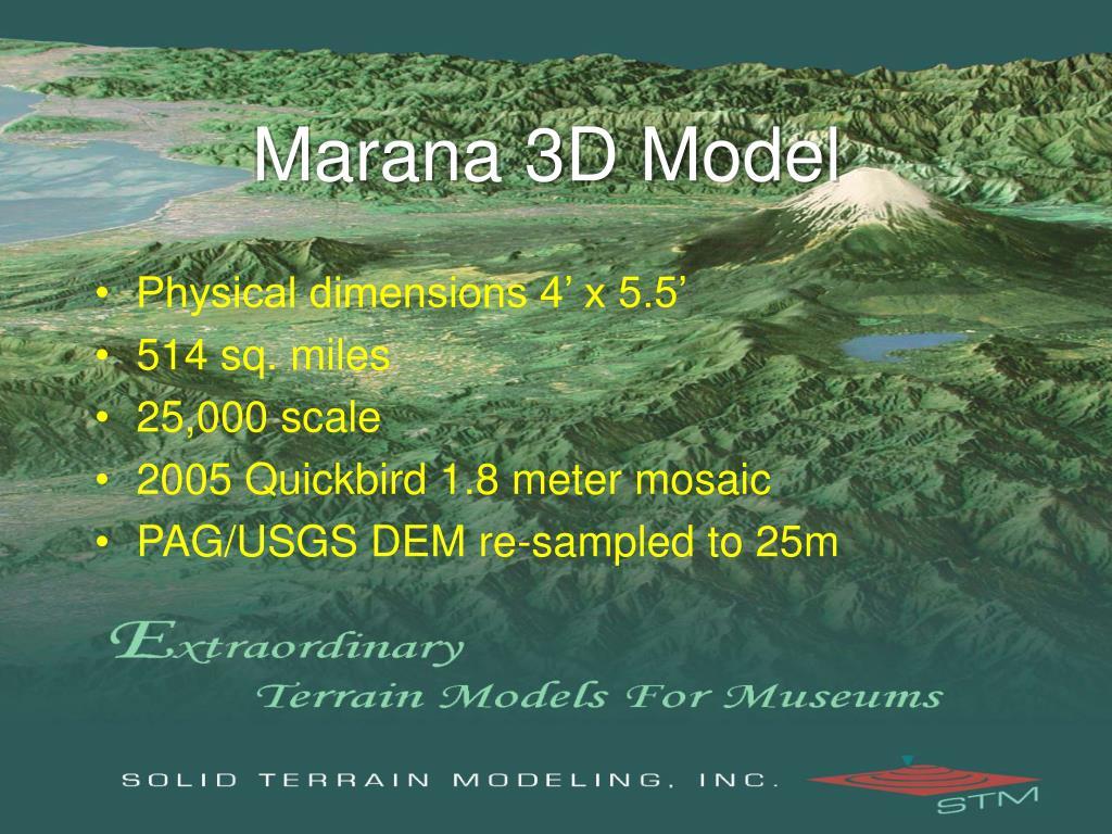 Marana 3D Model