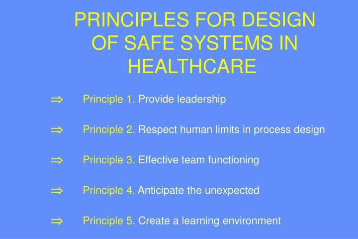 PRINCIPLES FOR DESIGN