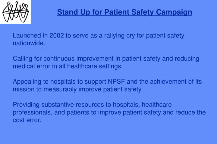 Stand Up for Patient Safety Campaign