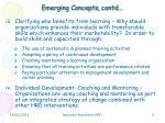 emerging concepts contd