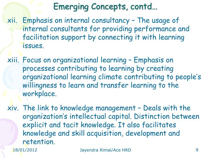Emerging Concepts,