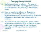 emerging concepts contd3