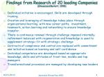 findings from research of 20 leading companies ghosal and barlett 1998