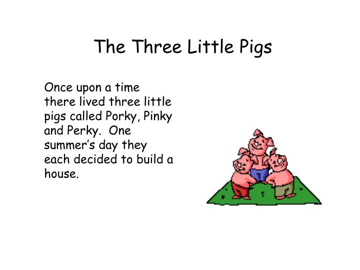 three little pigs inc 2 essay