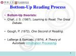 bottom up reading process