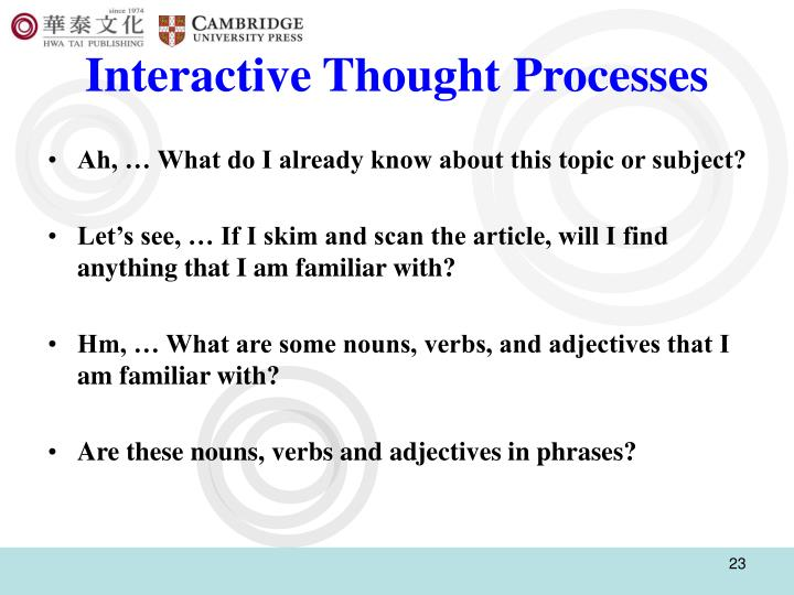 Interactive Thought Processes