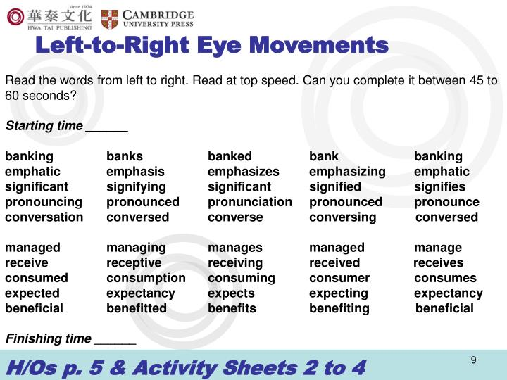 Left-to-Right Eye Movements