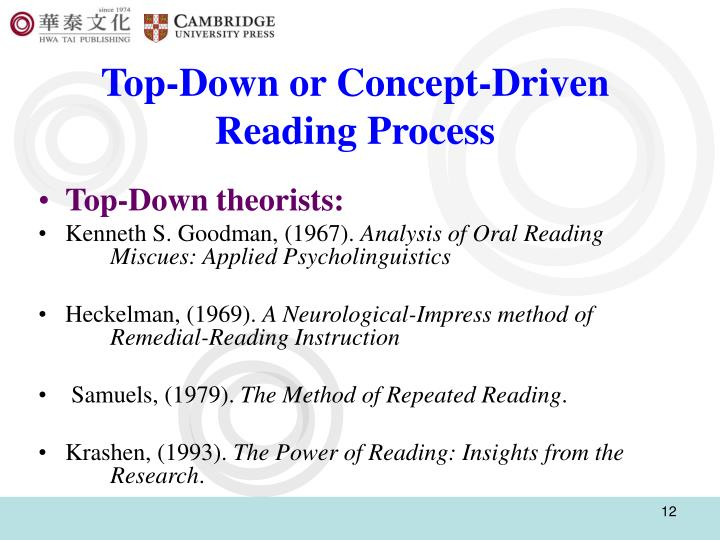Top-Down or Concept-Driven Reading Process
