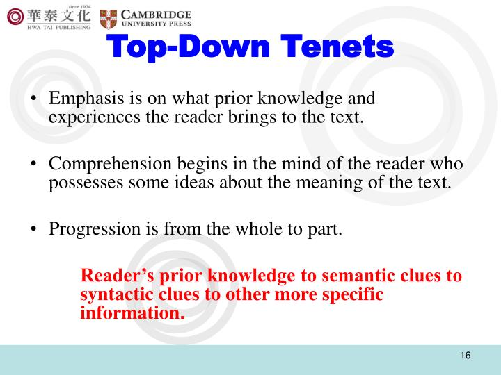 Top-Down Tenets