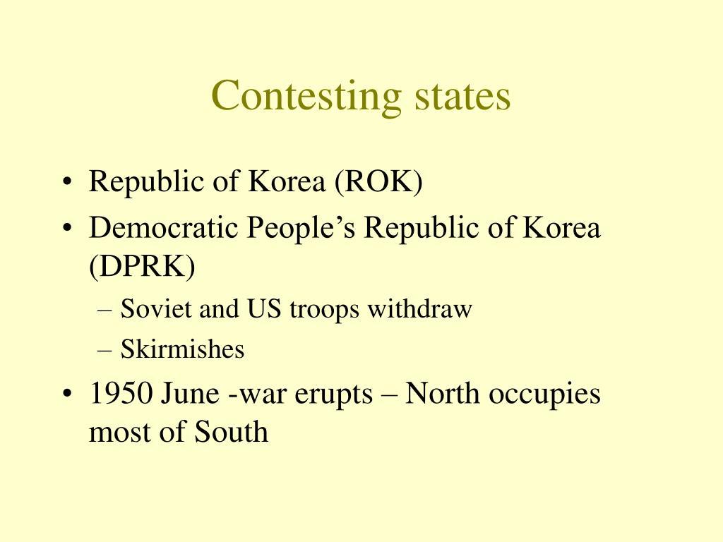 Contesting states