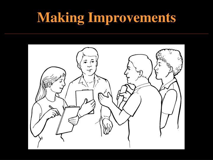 Making Improvements