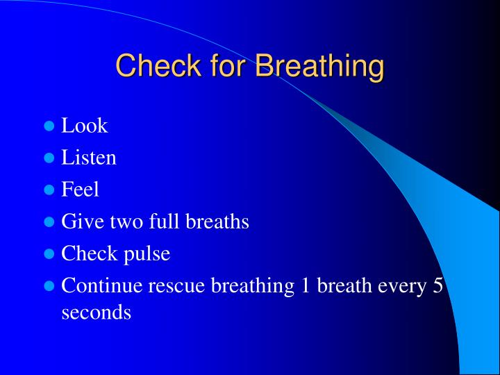 Check for Breathing