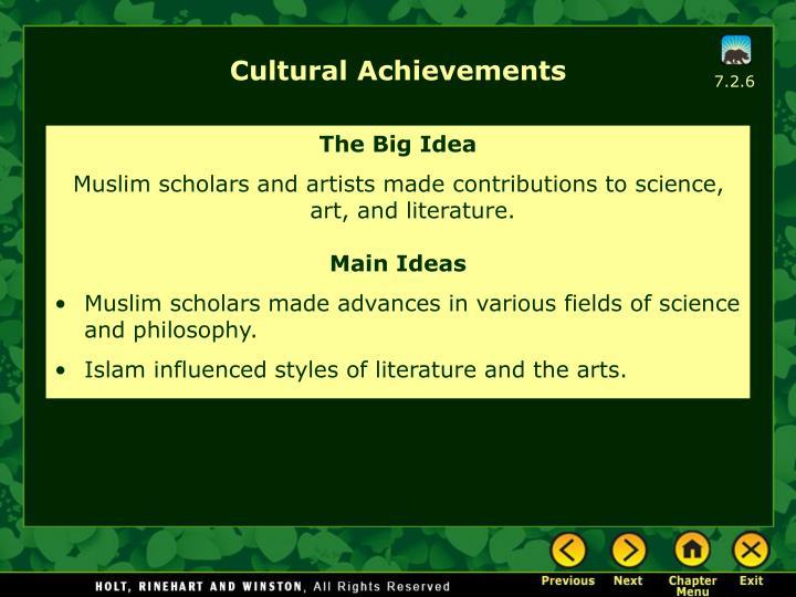 Cultural Achievements