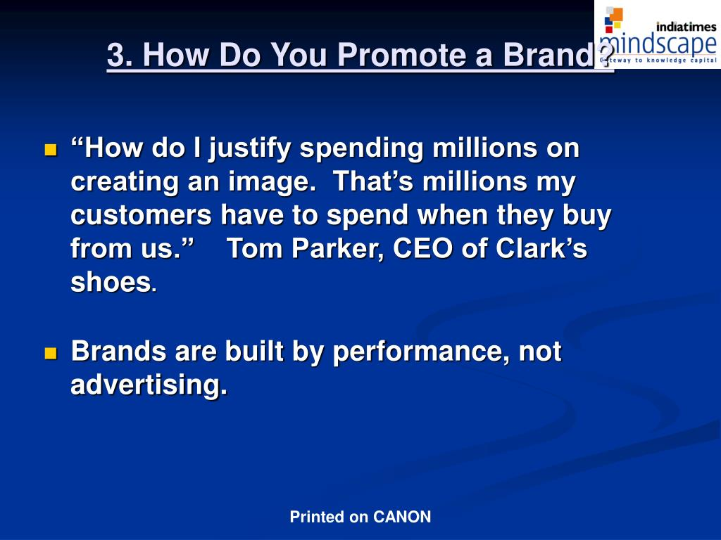 3. How Do You Promote a Brand?