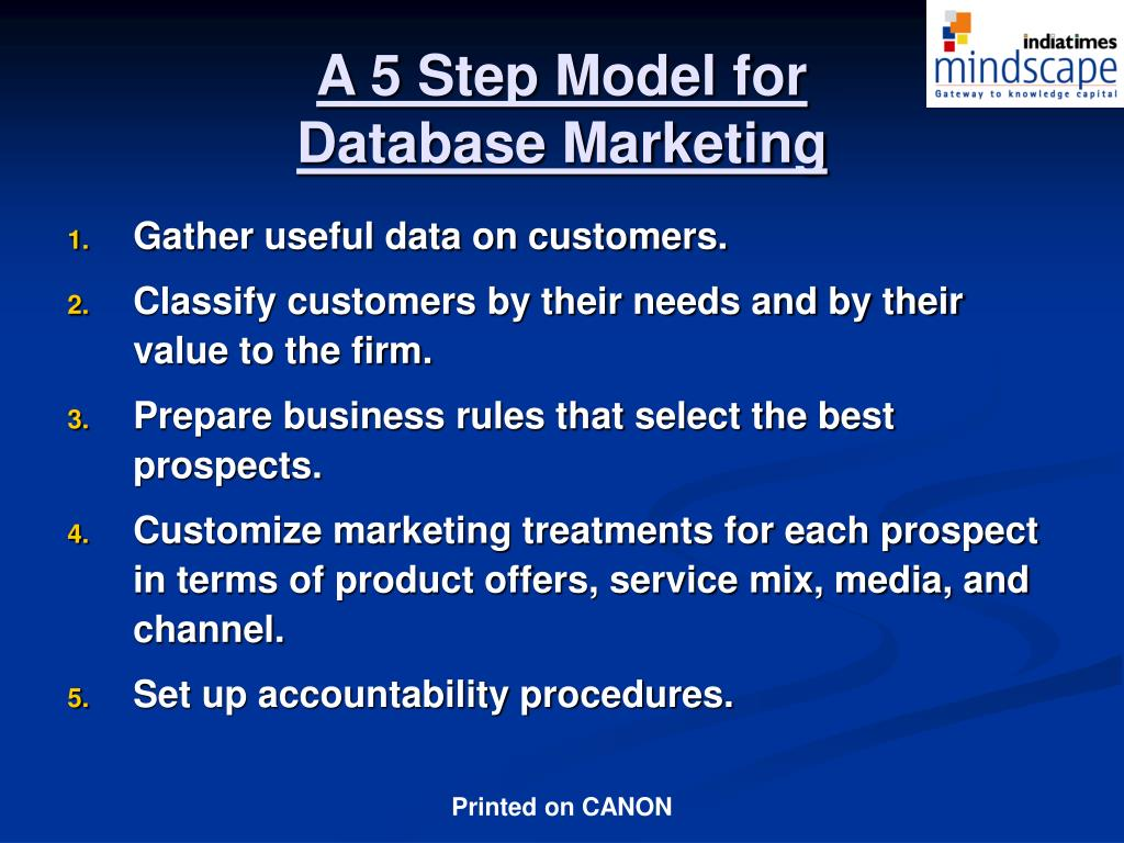 A 5 Step Model for