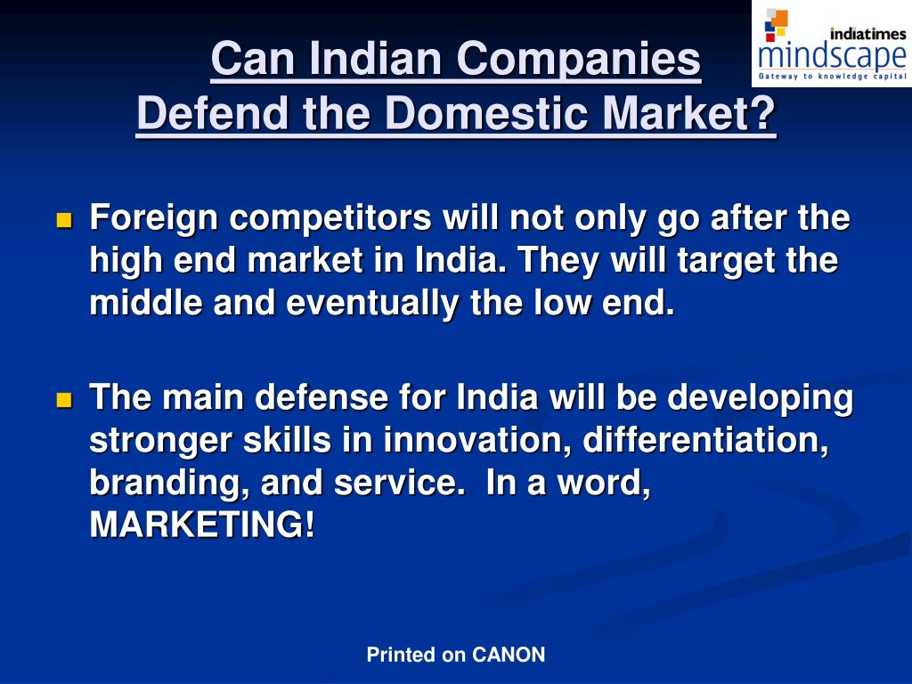 Can Indian Companies
