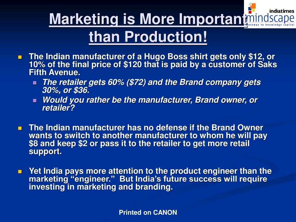 Marketing is More Important