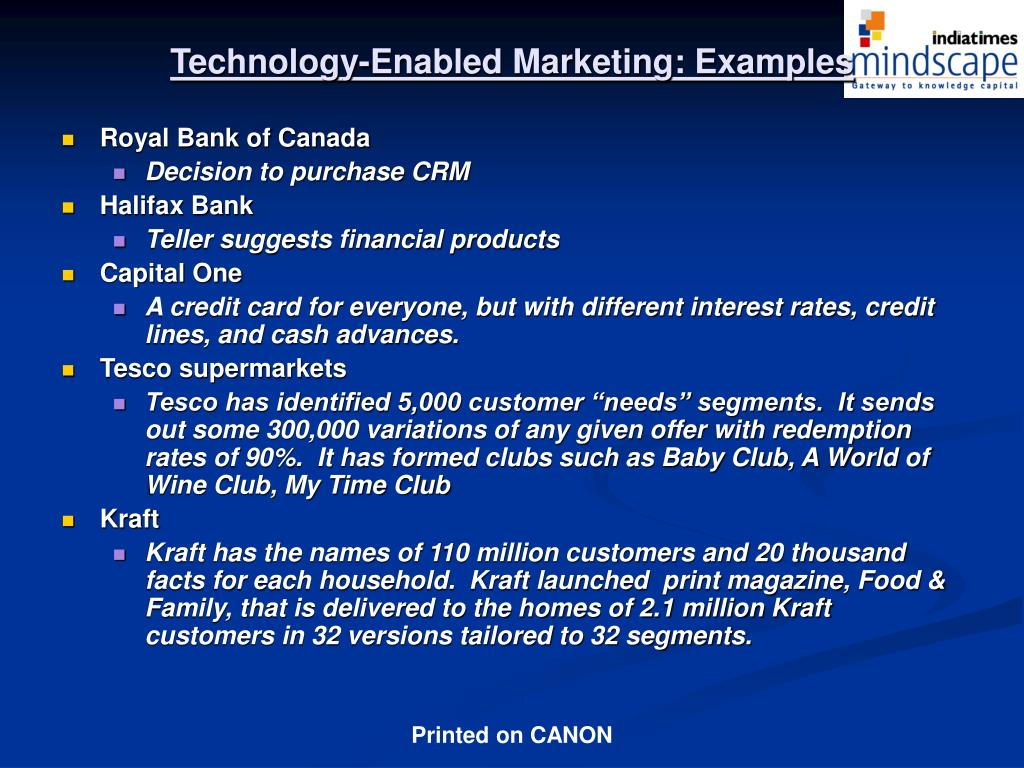 Technology-Enabled Marketing: Examples