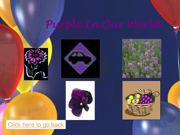 Purple In Our World