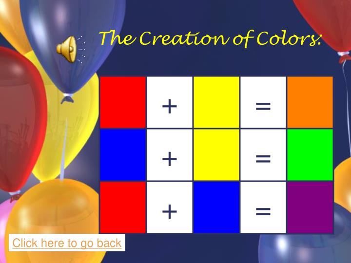 The Creation of Colors: