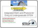 integrated math and physics for entry to undergraduate stem