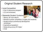 original student research