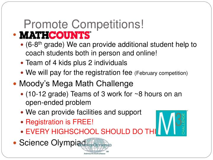 Promote Competitions!