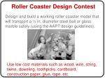 roller coaster design contest