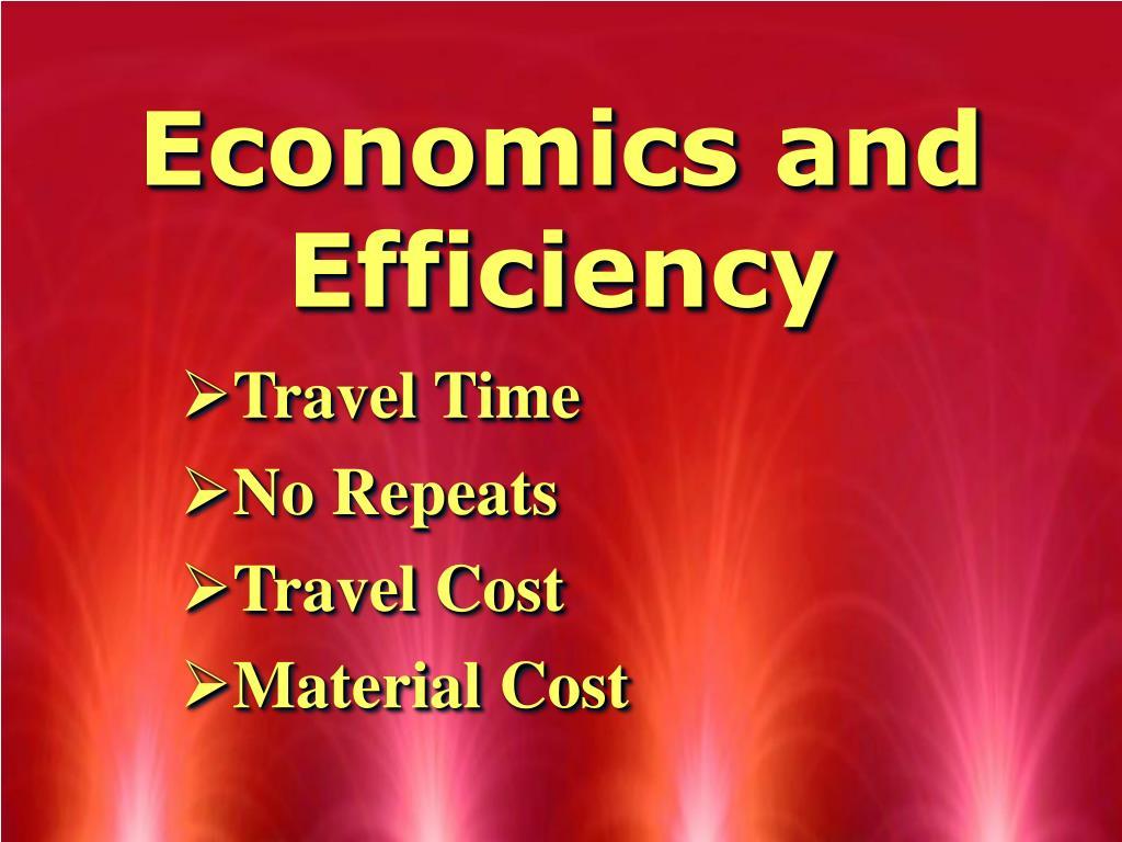 Economics and Efficiency