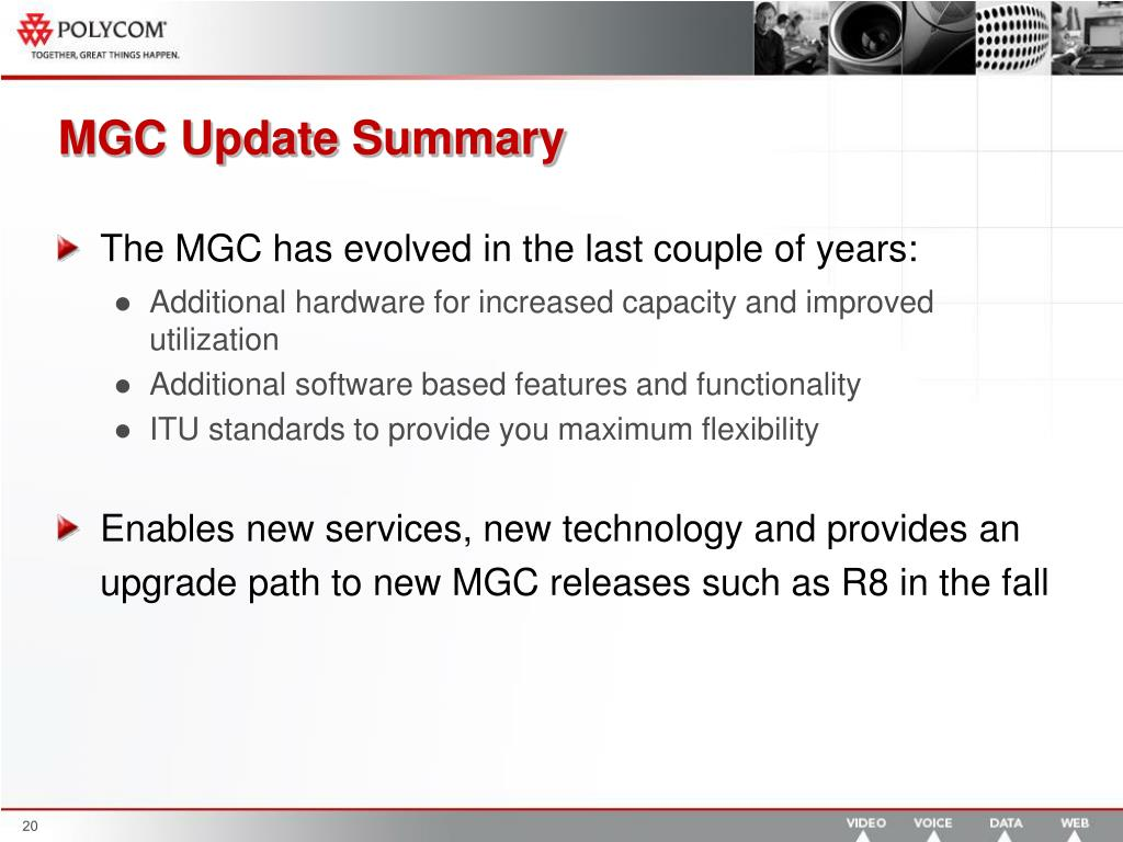 MGC Update Summary