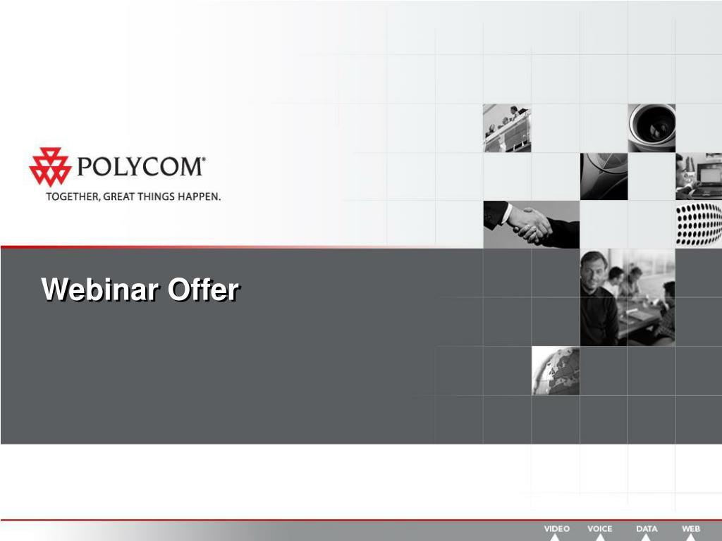 Webinar Offer