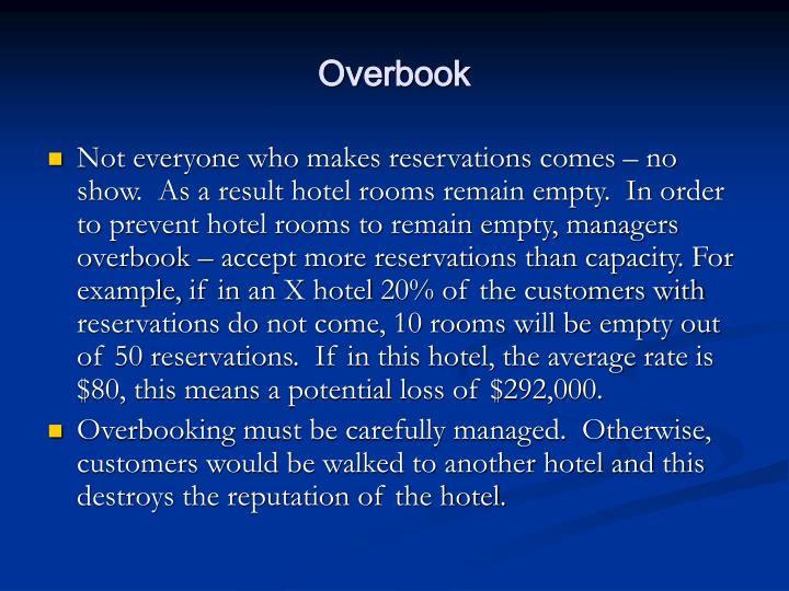 Overbook