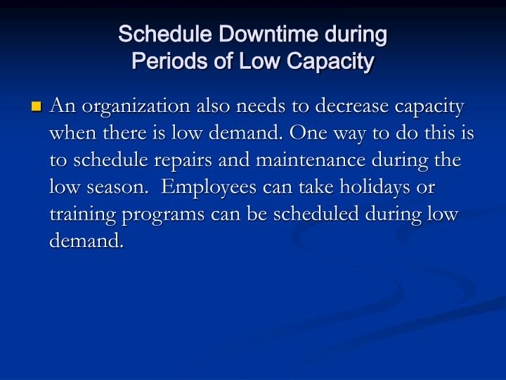Schedule Downtime during