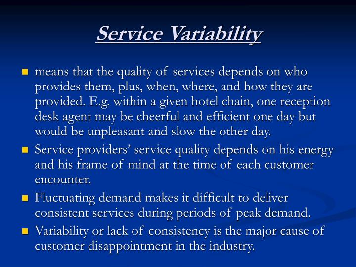 Service Variability