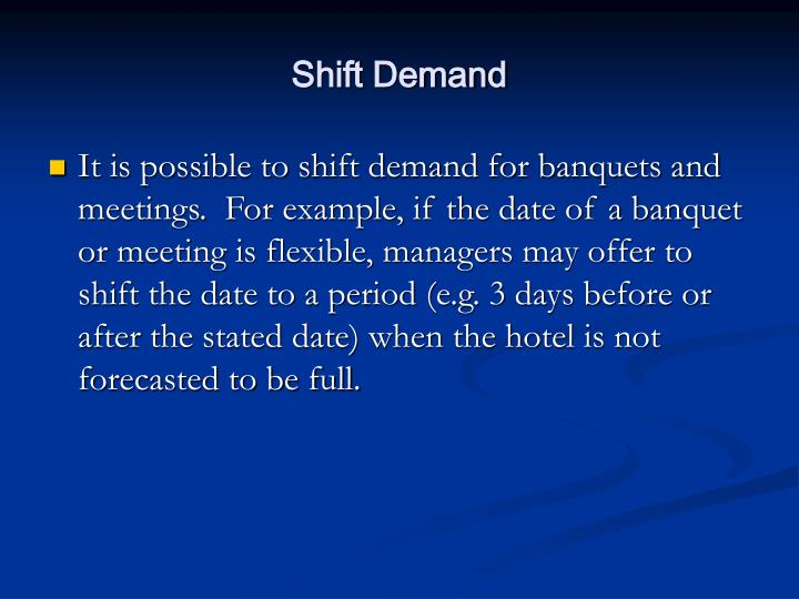Shift Demand