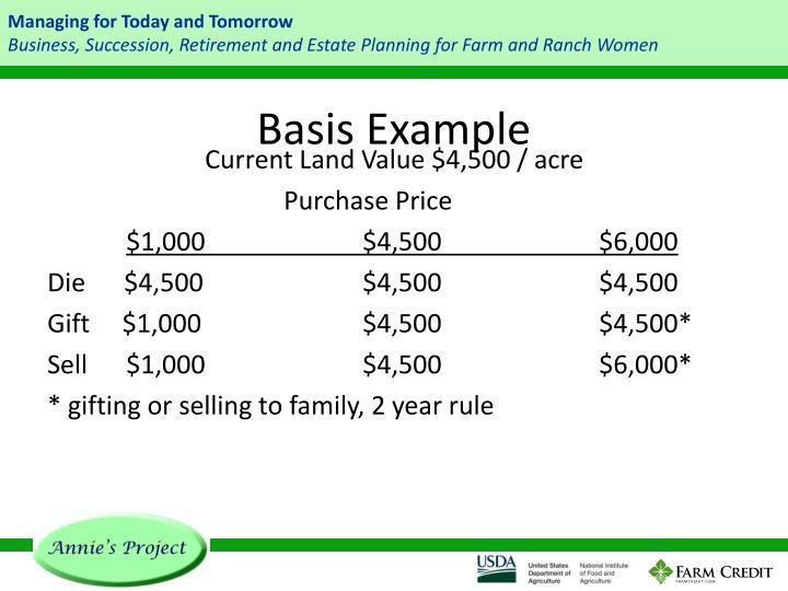 Basis Example