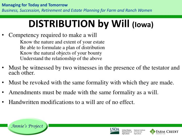 DISTRIBUTION by Will