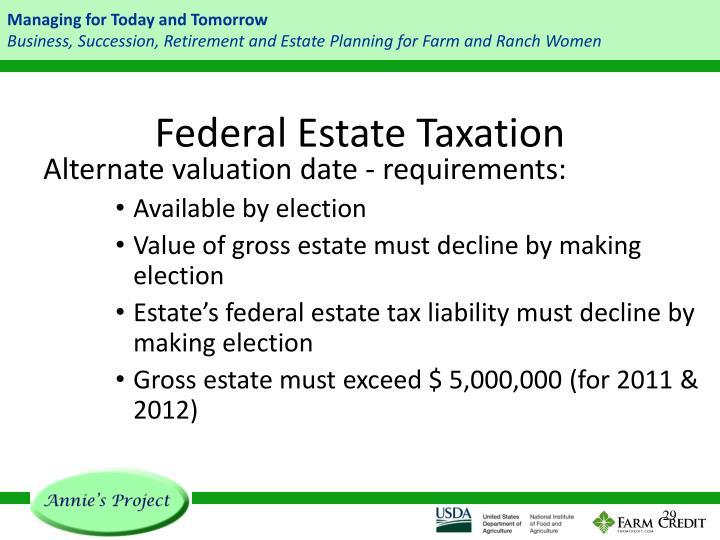 Federal Estate Taxation