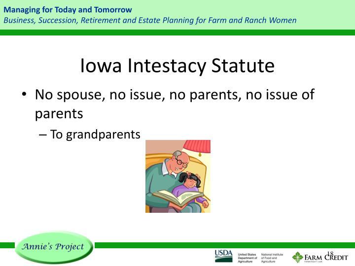 Iowa Intestacy Statute