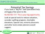 potential tax savings2
