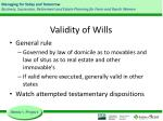 validity of wills