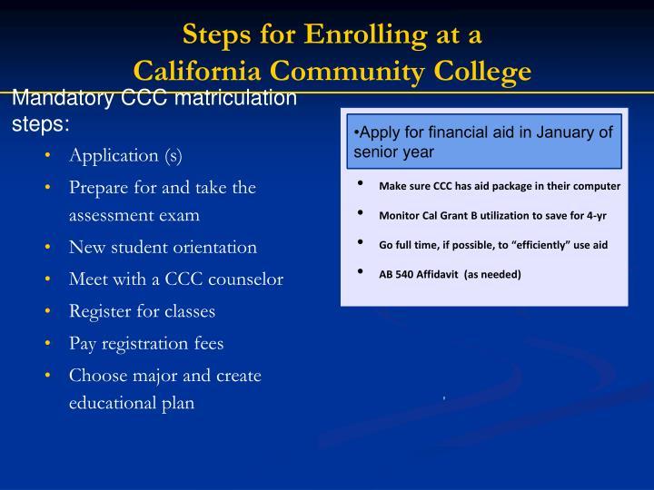 Steps for Enrolling
