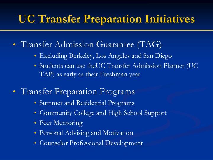 UC Transfer Preparation Initiatives
