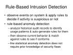 rule based intrusion detection