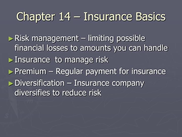 Chapter 14 – Insurance Basics