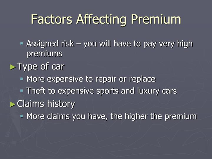 Factors Affecting Premium