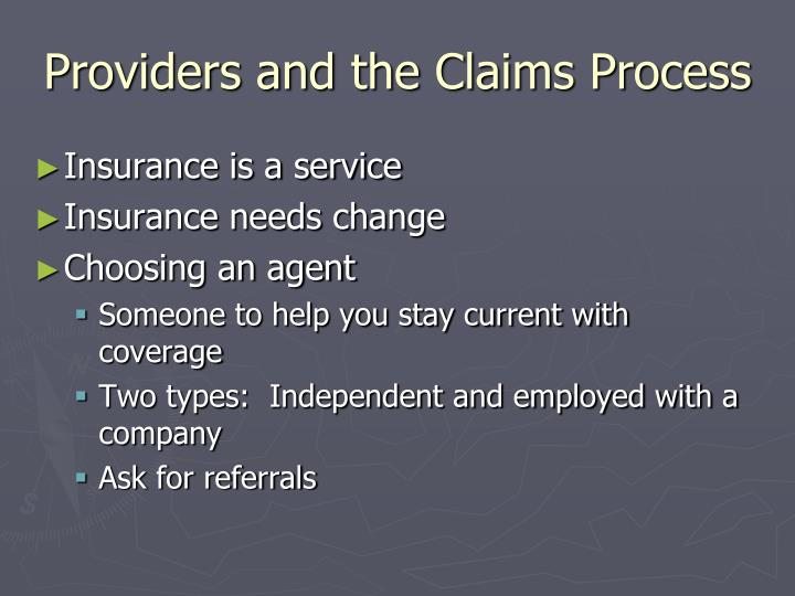 Providers and the Claims Process