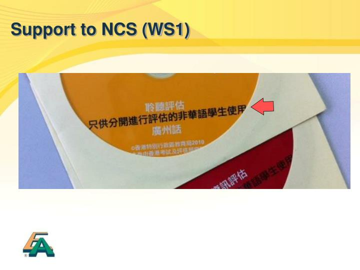 Support to NCS (WS1)