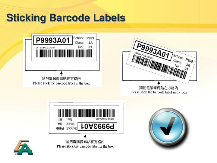 Sticking Barcode Labels