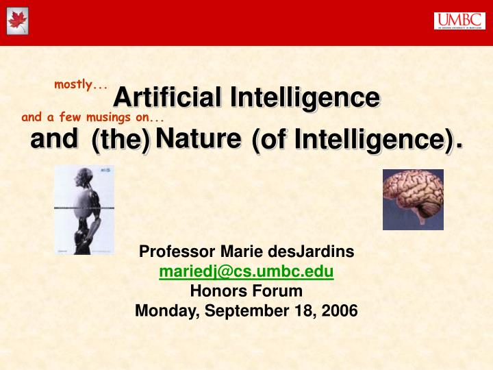 Artificial intelligence and nature